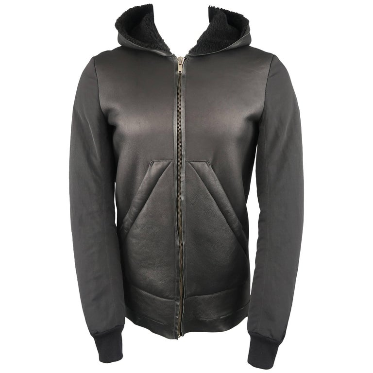 RICK OWENS Jacket - Men's Black Bomber Coat
