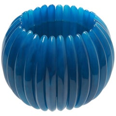 Kenneth Jay Lane Lapis Blue Onion Stretch Bracelet