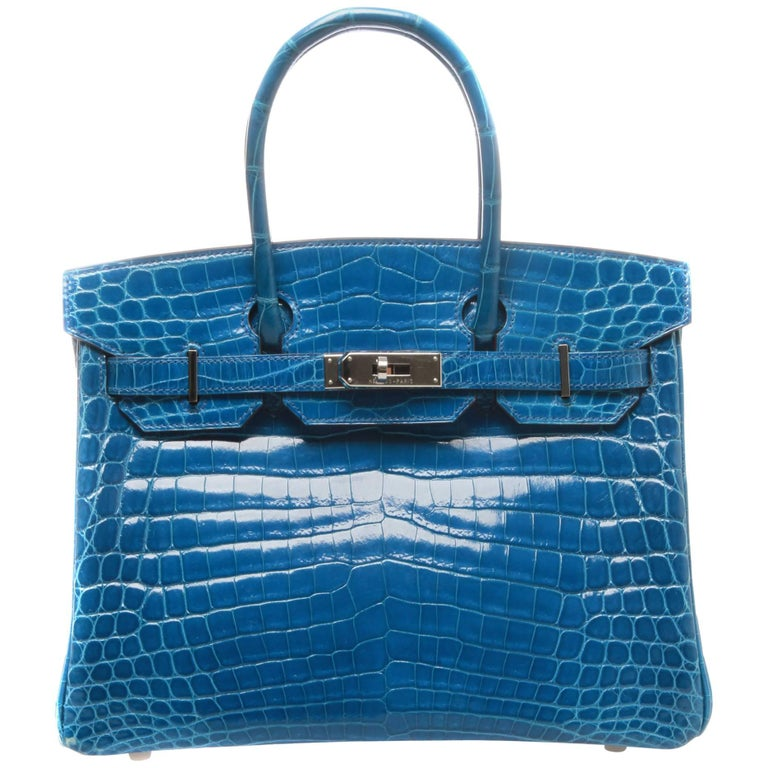 Hermès Birkin 30 Crocodile Mykonos Bag  For Sale