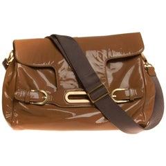 Beige Patent Jimmy Choo Crossbody Handbag