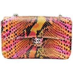 Chanel Mini Flap Multicolor Python Bag