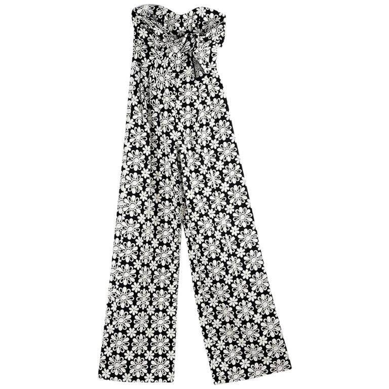 Black & White Johanna Ortiz Embroidered Jumpsuit