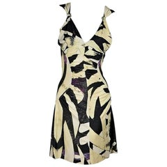 Multicolor Roberto Cavalli Printed Ruched Dress