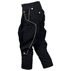 Black Dolce & Gabbana Cropped Harem Pants