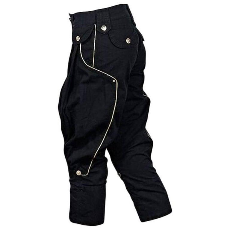 Black Dolce & Gabbana Cropped Harem Pants For Sale