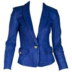 Blue Emilio Pucci Leather Blazer