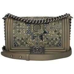 f771fa10fa0 Chanel Old Medium Crystal Boy Metallic Bronze Ruthenium Hardware Goatskin  Bag