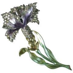 Pearlized Marcel Boucher Carnation Brooch