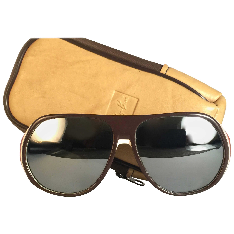 44975292bb New Vintage Ray Ban B L Blazer Mirror Lenses Sunglasses USA at 1stdibs