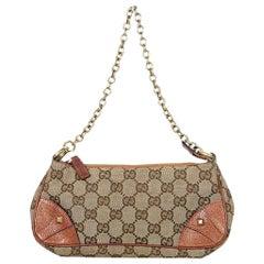 Tan Gucci Monogram Mini Shoulder Bag