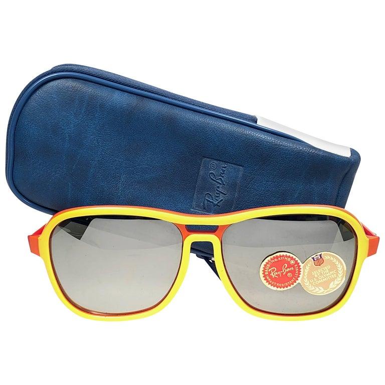 Ray Ban Vintage B&L Stateside Orange Yellow Sport Lenses Sunglasses US