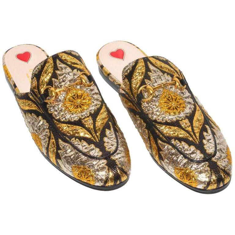 e52bfb1ac1f Gucci Embroidered Mules For Sale at 1stdibs
