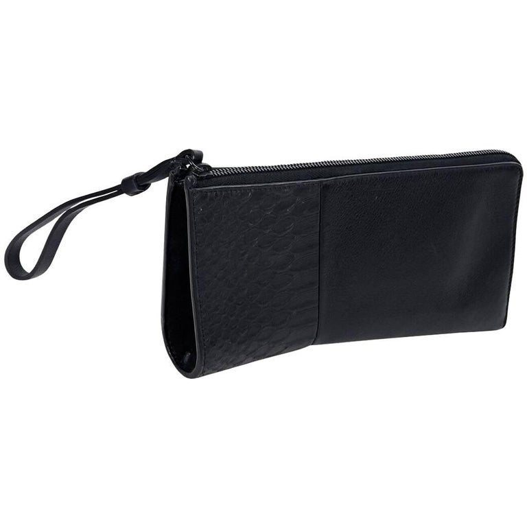Black Narciso Rodriguez Leather Asymmetrical Clutch