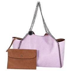 Purple Stella McCartney Shaggy Deer Falabella Tote Bag