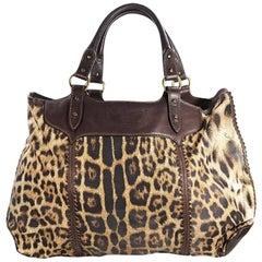 Multicolor Roberto Cavalli Leopard Tote Bag