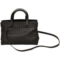 2016 Bottega Veneta Nero Intrecciato Nappa Medium Top Handle Bag w/Dust Bag