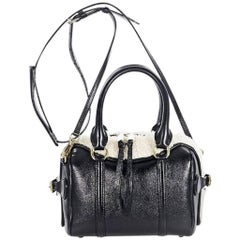 Black & White Burberry Prorsum Mini Bee Bowler Satchel