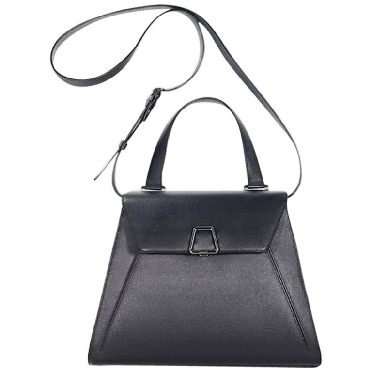 Black Akris Alba Structured Satchel