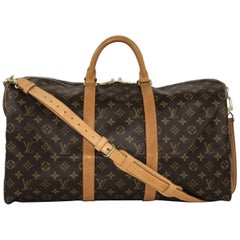 Louis Vuitton Monogram Keepall Bandoliere 50 Travel Bag