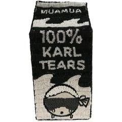 Mua Mua 100% Karl Tears Black White Beads Shoulder Bag
