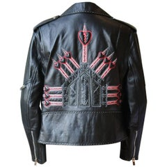 Valentino Love Blade Embellished Leather Jacket
