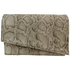 Aphros nude tone snake skin Shoulder bag