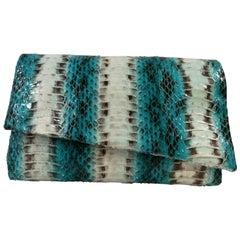 Aphros Blue multi snake skin Shoulder Strap