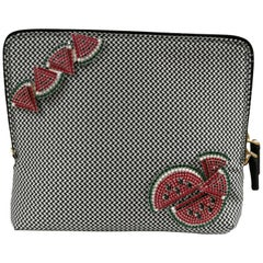 Lisa C. Bijoux Black and White Alice in Wonderland clutch shoulder bag