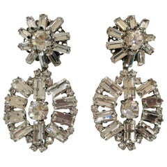Lisa C. Crystal Swarovski pendant earrings