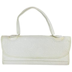 Fendi Floral Embossed Frame Bag