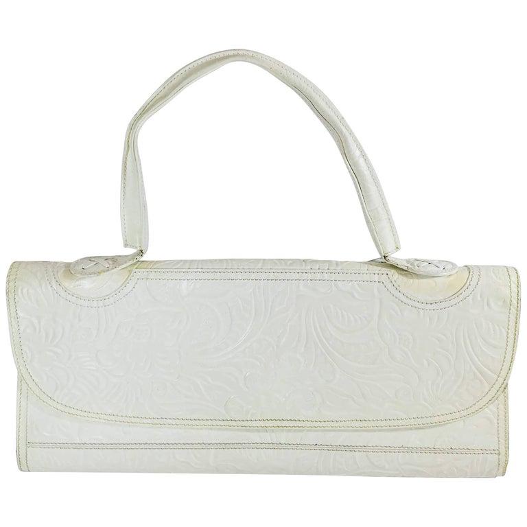 d3ed00f7addd Fendi Floral Embossed Frame Bag For Sale at 1stdibs