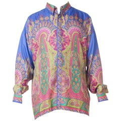1990s Gianni Versace Men's paisley Printed Shirt