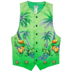 Gianni Versace South Beach Miami Florida Tropical Silk Vest