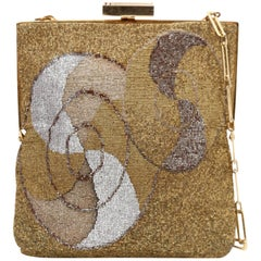 Pierre Cardin micro-beaded gilt bag, 1960s