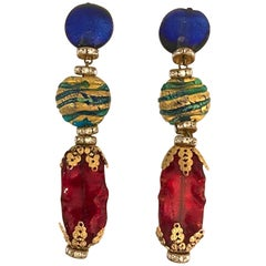 Venetian glass bead earrings from actress Elsa Martinelli's personal collection
