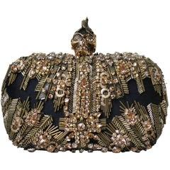 Alexander McQueen The Skull Swarovski Crystal Embellished Box Clutch