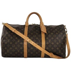 Louis Vuitton Monogram Keepall Bandoliere 50 Travel Handbag