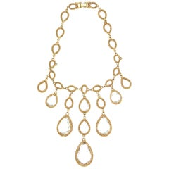 1960s Goldette Chandelier Bijoux Drop Necklace