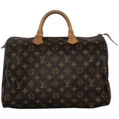 Louis Vuitton Monogram Speedy 35 Top Handle Handbag