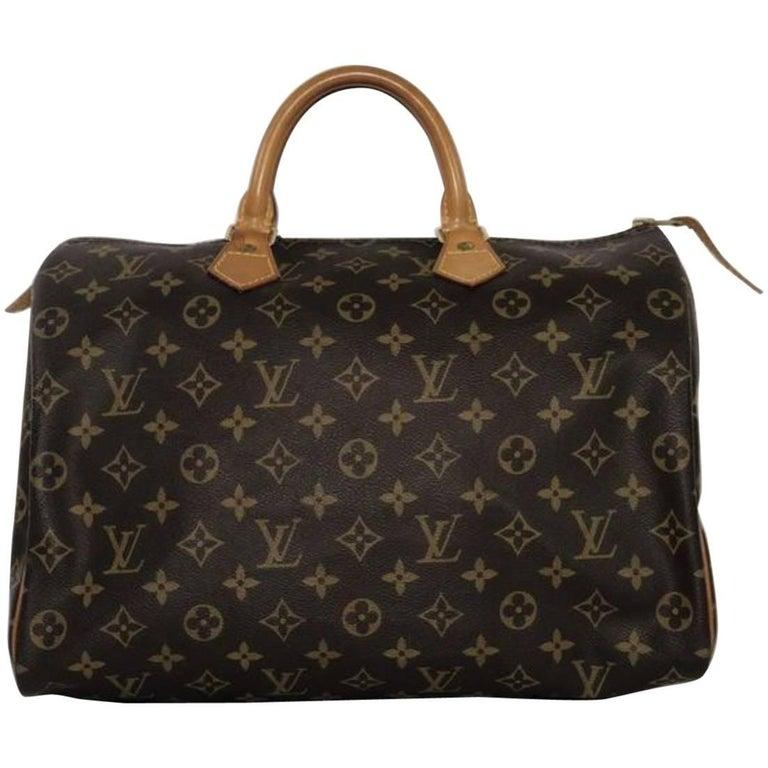 Louis Vuitton Monogram Speedy 35 Top Handle Handbag