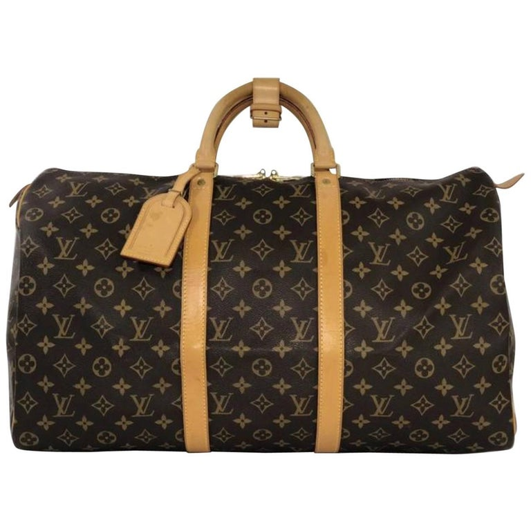 Louis Vuitton Monogram Keepall 50 Travel Handbag