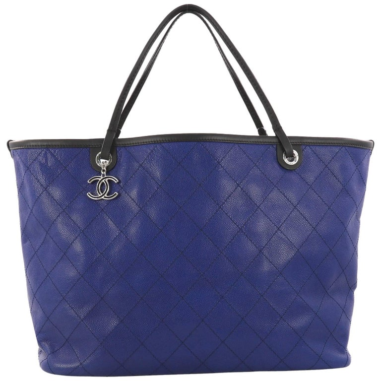 Chanel Fever Tote Quilted Caviar XL