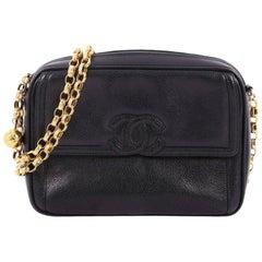 Chanel Vintage Front Pocket CC Camera Bag Caviar Small