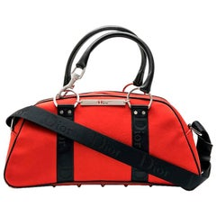 DIOR Bag in Red and Black Canvas