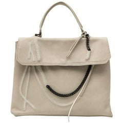 JEAN PAUL GAULTIER Bag in Beige Leather with Chain