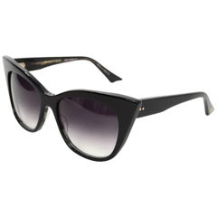 DITA Black Magnifique Cat Eye Sunglasses with Box & Case
