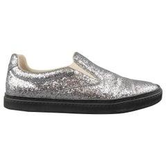 Maison Martin Margiela Silver Glitter Slip On Sneakers