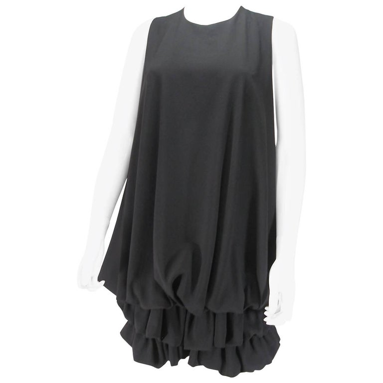 Givenchy Black Polyester Mini Dress 38 French Size / Excellente Condition