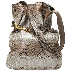 2000 Chloe Taupe Python Leather Joan Bucket Bag