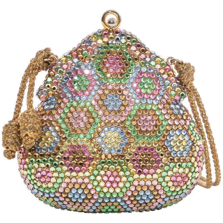 Judith Leiber Crystal Evening Minaudière Bag, Circa 1990s